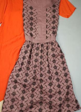 Брендовое миди платье с вышивкой  noa noa p.m