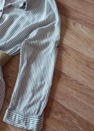 Платье миди на пуговицах в полоску, 100% вискоза3 фото
