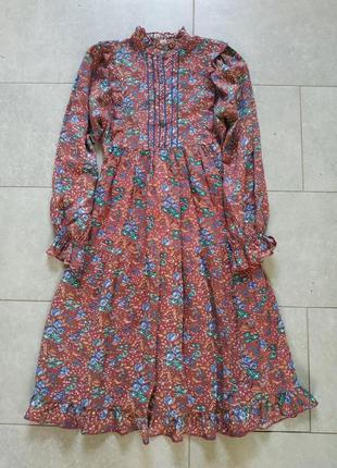 Просто невероятное винтажной платье в цветы