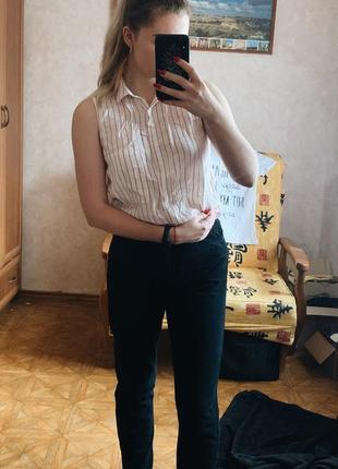 Рубашка без рукавов bershka