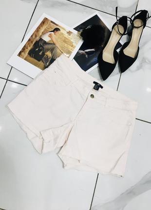 Стильные шорты из коттона светло розового цвета от h&m