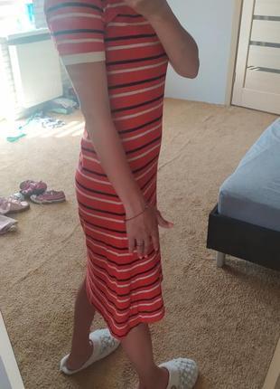 Платье миди, поло
