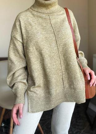 Теплый свитер с горлом h&m