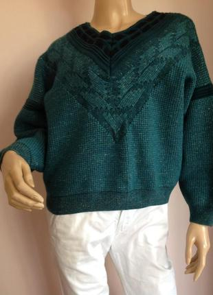 Свободный фирменный свитер /l- xl/ brend marc cain
