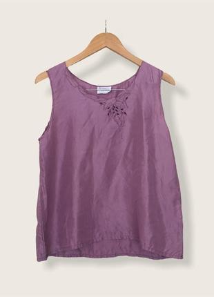 Вінтажна шовкова блуза від бренду reine seide