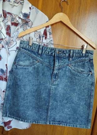 Джинсовая юбка мини
