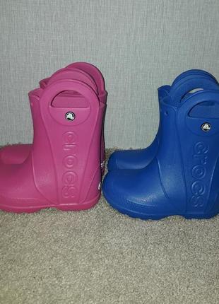 Синие резиновые сапоги crocs c12, наш 29 р. состояние новых. модель 12803. розовые проданы!