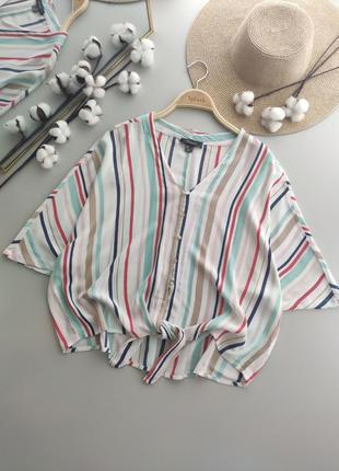 Натуральная блуза, свободный крой, оверсайз