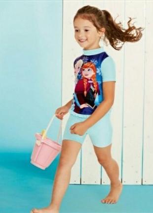 Солнцезащитный пляжный костюм princess от disney р. 74-80, 86-92 распродажа!
