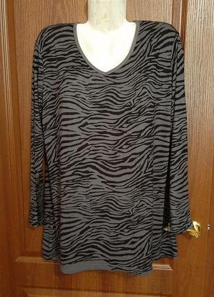 Трикотажная блузка размера 52-54.