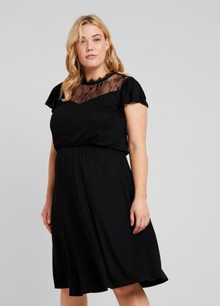 Трикотажное платье с отделкой из кружева only,uk22-24