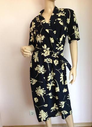 Вискозное винтажное платье/l- xl/ brend meico