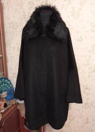 Шикарное пальто-пончо батальное демисезонное isabell schmitt