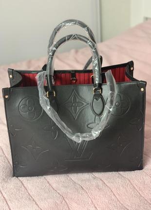 Чорная сумка louis vuitton