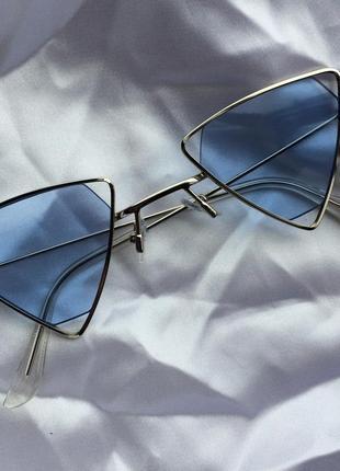 Очки имиджевые солнцезащитные треугольные