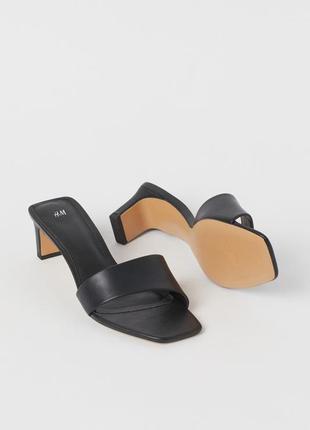 Новые трендовые мюли на толстом прямом каблуке шлёпанцы босоножки