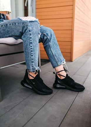 Кроссовки nike air max 270 «black» женские и мужские7 фото