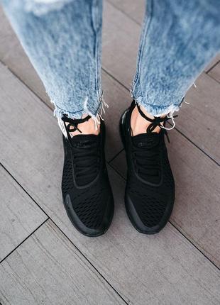 Кроссовки nike air max 270 «black» женские и мужские5 фото
