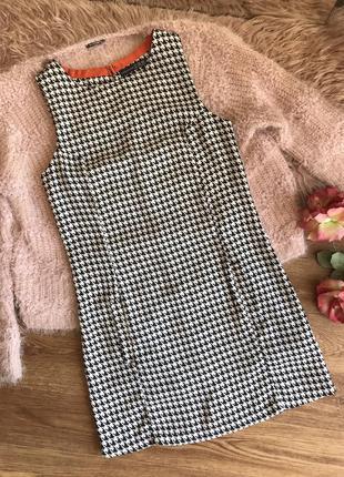 Платье в гусиную лапку (xs/s)