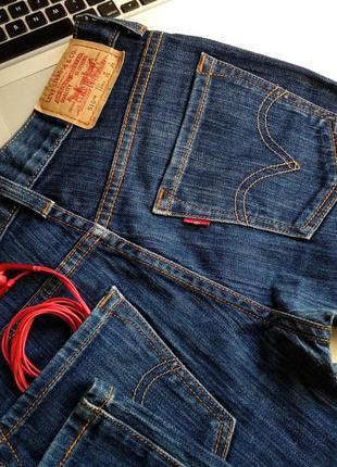 Темно-синие джинсы бойфренды levi's levi strauss & co. скинни скины модель 510 размер 265 фото