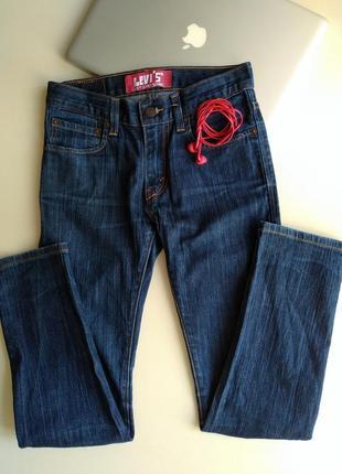 Темно-синие джинсы бойфренды levi's levi strauss & co. скинни скины модель 510 размер 262 фото