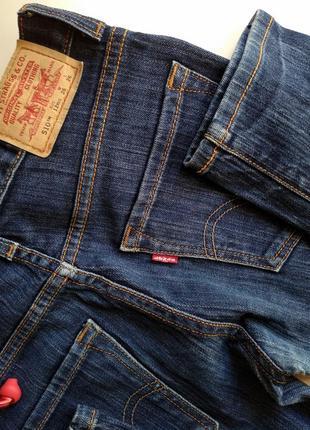 Темно-синие джинсы бойфренды levi's levi strauss & co. скинни скины модель 510 размер 266 фото