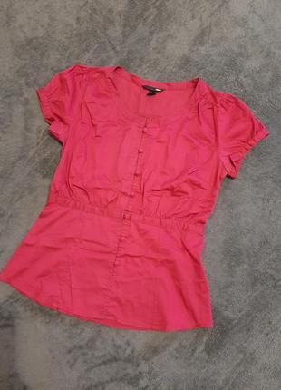Блуза малинового цвета h&m s/m рубашка