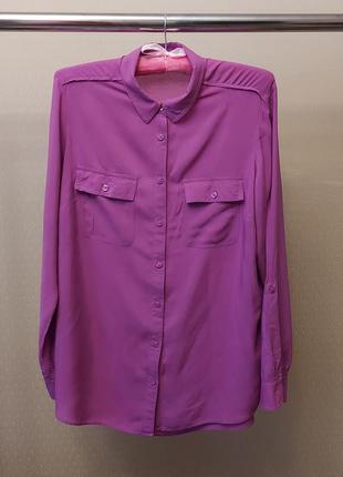 Яркая рубашка в модном цвете m&s collection zara massimo dutti