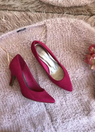 Розовые туфли лодочки(36р)