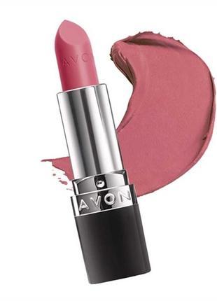 """Avon  губная помада """"матовый идеал"""" оттенок - pure pink."""