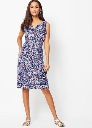Лляна сукня міді
