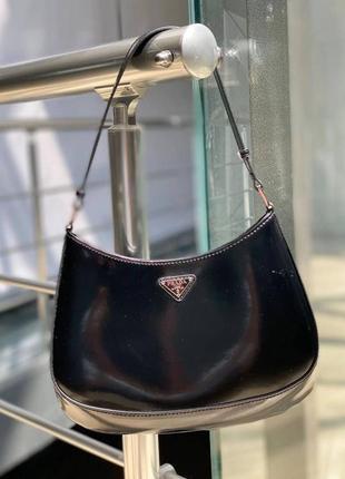 Чёрная сумка клео бренд белая беж салатовая стразы камни