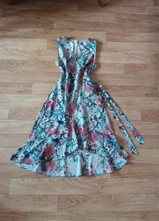 Платье сарафан миди на запах, 100% хлопок