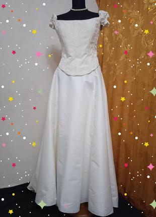 Свадебное платье ( корсет+ юбка + палантин  ) ретро винтаж, франция