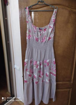 Италия нежнейшее платье в деревенском стиле р.46-50