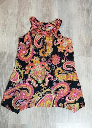 Летняя ассиметричная туника платье