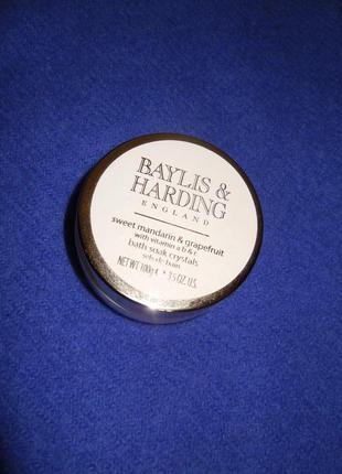 Соль для ванны baylis & harding england, сладкий мандарин и грейпфрут с витамином a, b и с.2 фото