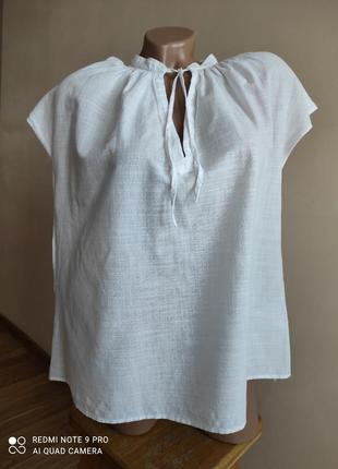 Белоснежная хлопковая блуза