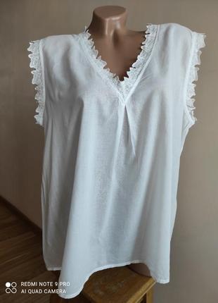 Красивая блуза из воздушной хлопковой ткани