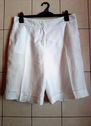 Белоснежные шорты из 100% льна от christian berg