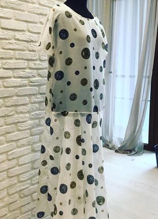 Тончайшее платье из натурального батиста