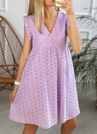 Платье женское из прошвы