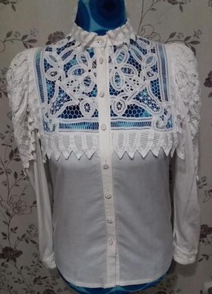 Винтаж!!!очаровательная хлопковая блуза