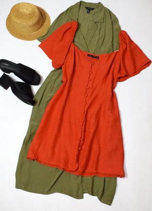 Чарівне морквяне плаття згудзиками