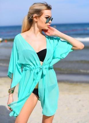 Пляжная туника накидка на купальник парео5 фото