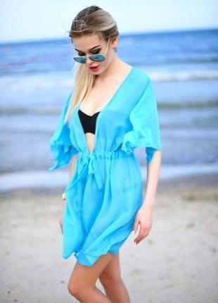 Пляжная туника накидка на купальник парео4 фото