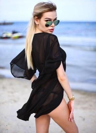 Пляжная туника накидка на купальник парео3 фото