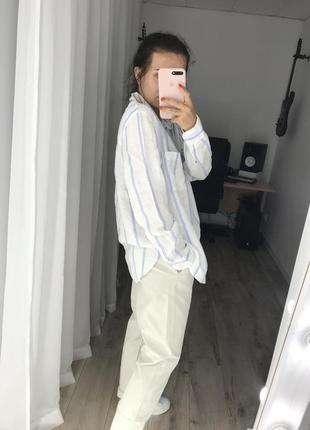 Рубашка лён h&m