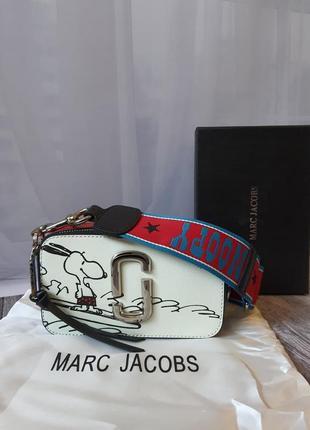 Сумка marc jacobs snapshot snoopy белая