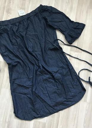 Платье джинсовое летнее сарафан blue motion.